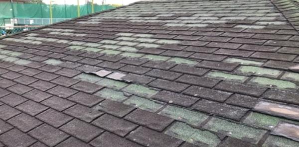 アスファルトシングル屋根の劣化症状