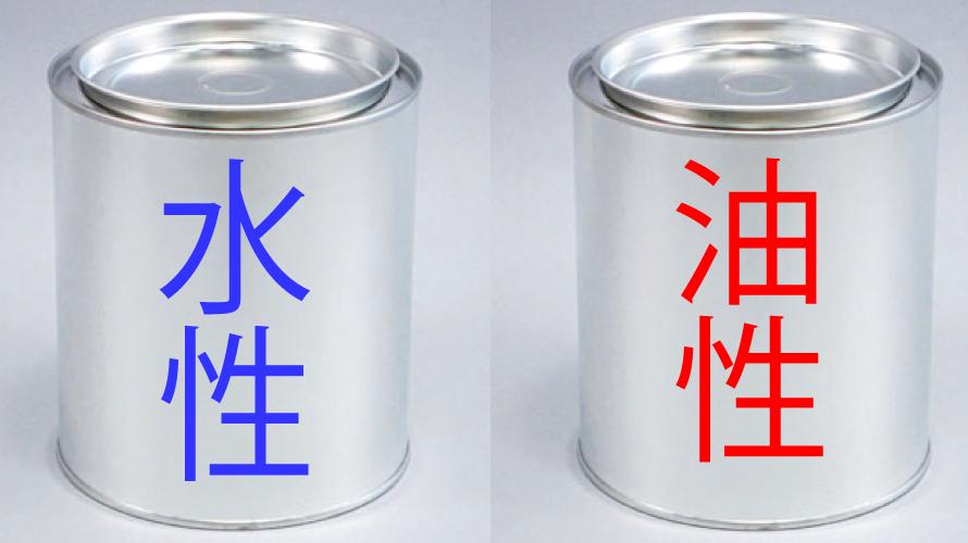 外壁塗装の水性塗料と油性塗料の違いと特徴