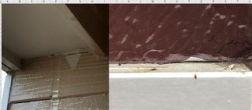 塗料の乾燥時間を守らない事で不具合(剥がれ、捲れ)が起こった事例