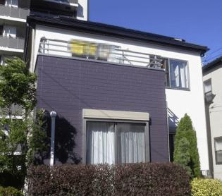 ベランダ【紫色×白色】