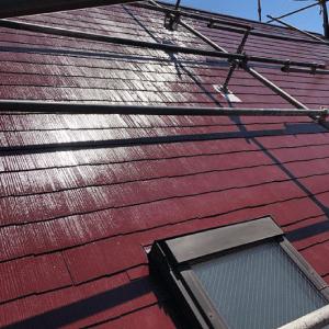 おしゃれな屋根塗装例【海老色】