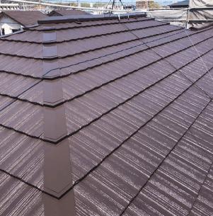 屋根塗装【茶色】