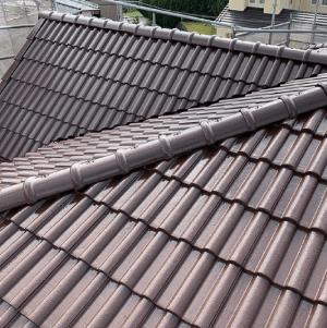 屋根塗装【茶色(瓦)】