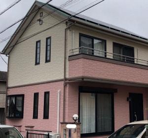 ピンク系の外壁塗装の施工例5
