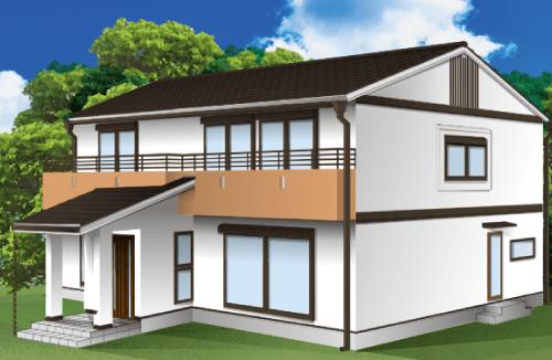 外壁塗装とベランダの色の組み合わせ例【ホワイト×ベージュ】